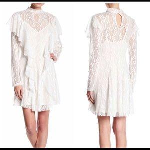 Free People  Boho ruffled lace dress